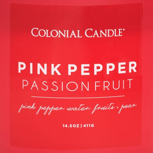 Pop of Color Scented Jar Candle, Pink Pepper Passionfruit, 14.5 oz, Single