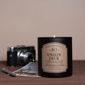 Manly Indulgence Scented Jar Candle, Classic Collection - Union Jack, 16.5 oz - Single