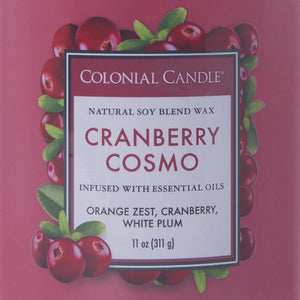 Colonial Candle Classic Cylinder Scented Jar Candle, Cranberry Cosmo, 11 oz, Single