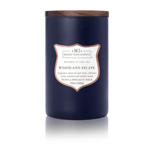 Manly Indulgence Scented Jar Candle, Signature Collection, Woodland Escape, 20oz,  Single