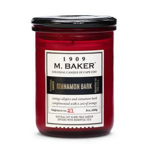 M. Baker Scented Jar Candle, Small, Cinnamon Bark, 8 oz, Single