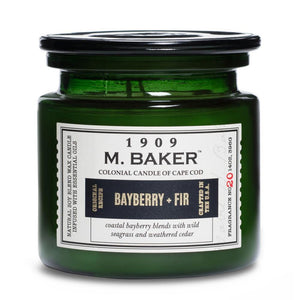 M. Baker Scented Jar Candle, Large, Bayberry and Fir, 14 oz, Single