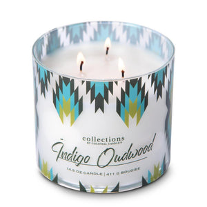 Collections by Colonial Candle, Desert Collection, 14.5oz, Indigo Oudwood