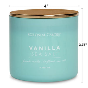 Vanilla Sea Salt Jar Candle