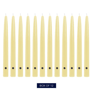 Colonial Candle Handipt Taper Candle, Unscented, 12 in, Limoncello, 12 Pack