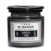 M. Baker Scented Jar Candle, Large, Black Tea Flora, 14 oz, Single