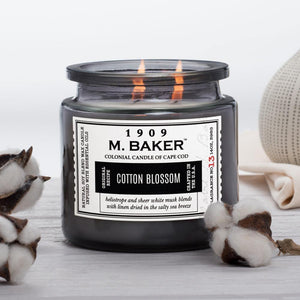 M. Baker Scented Jar Candle, Large, Cotton Blossom, 14 oz, Single
