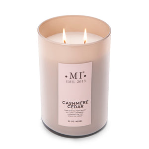 Manly Indulgence Scented Jar Candle, Cashmere Cedar, 22 oz, Single
