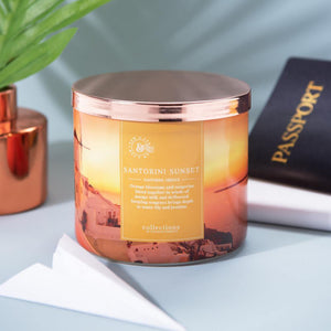 Colonial Candle Scented Jar Candle, Travel Collection, Santorini Sunset, 14.5 oz, Single