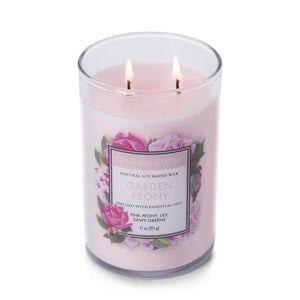 Colonial Candle Classic Cylinder Scented Jar Candle, Garden Peony, 11 oz, Single