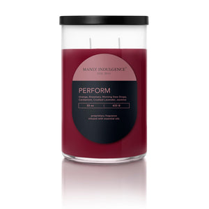 Manly Indulgence Scented Jar Candle, Contemporary Collection - Perform, 22 Oz,  Single