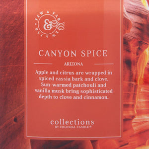 Colonial Candle Scented Jar Candle, Travel Collection, Canyon Spice, 14.5 oz, Single