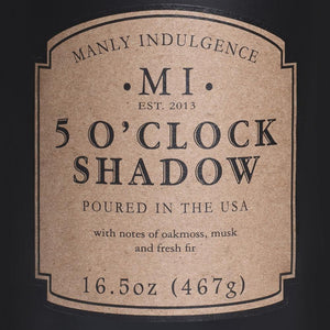 5 O'Clock Shadow Jar Candle