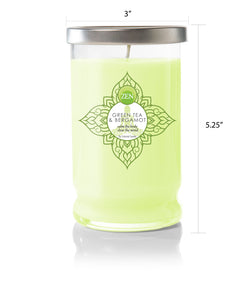 Green Tea And Bergamot Jar Candle