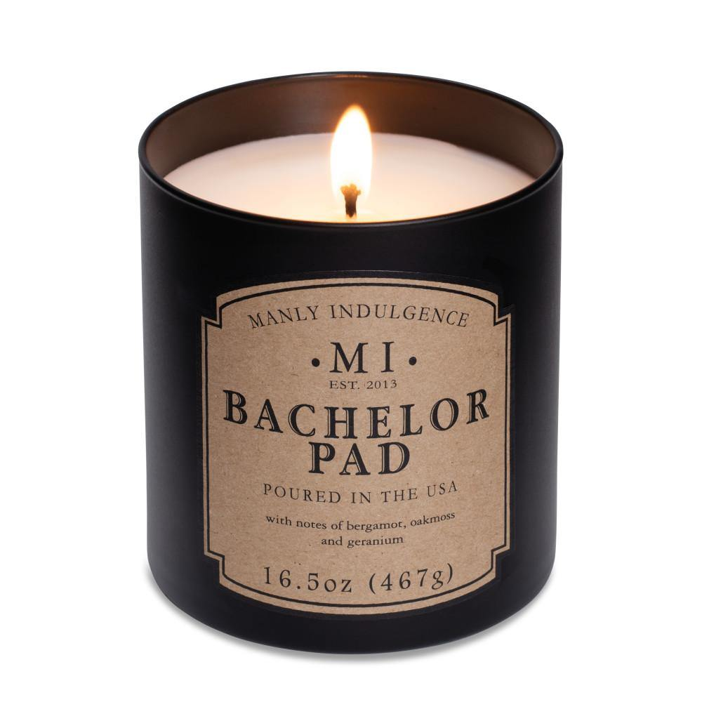 Manly Indulgence Scented Jar Candle, Bachelor Pad, Classic ...