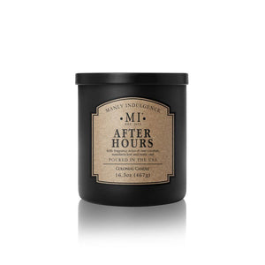 Manly Indulgence Scented Jar Candle, Classic Collection - After Hour, 16.5 oz - Single