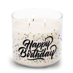 Collections by Colonial Candle Scented Jar Candle, Happy Birthday, 14.5 oz, Single