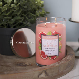 Colonial Candle Classic Cylinder Scented Jar Candle, Pink Grapefruit, 11 oz, Single