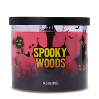 Colonial Candle Scented Jar Candle, Haunted Collections, Spooky Woods, 14.5oz, Single
