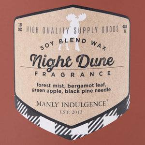 Manly Indulgence Scented Jar Candle, Adventure Collection, 15oz, Night Dune
