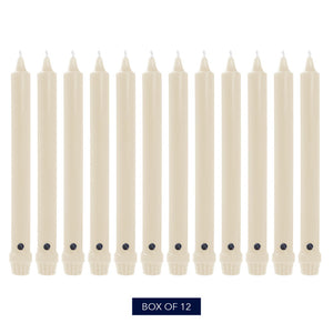 Colonial Candle Classic Taper Candle, Unscented, 12 in, Wheat, 12 Pack
