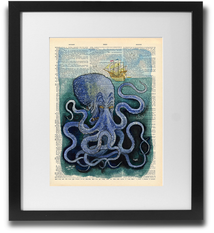Kraken watercolor - LimitedAddition