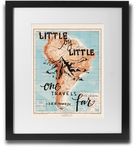 Little By Little One Travels Far quote.