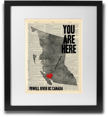 You are here (Powell River BC)