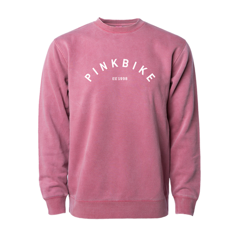 Pinkbike Arch Crew Heavyweight Sweatshirt - Deep Pink