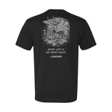"Trailforks ""Never Lost"" Skull T-Shirt - Charcoal"