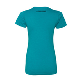"Trailforks Women's ""Nature Letters"" T-Shirt - Teal"