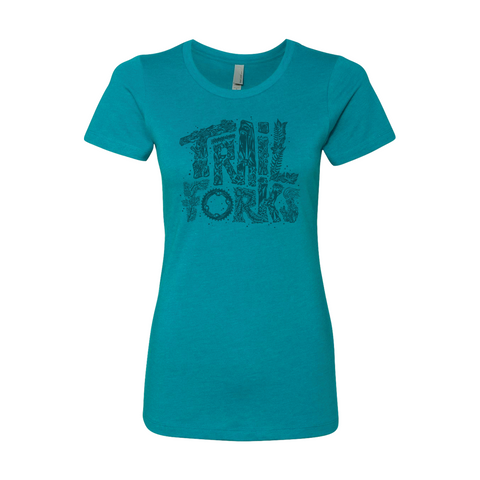 "Trailforks Women's ""Nature Letters"" T-Shirt"