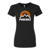 Pinkbike Women's Sunrise Black Next Level 6610 T-Shirt