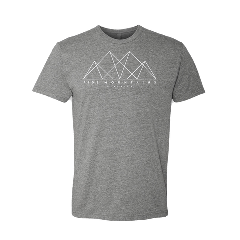 Pinkbike Mountain Shapes T-Shirt - Dark Heather