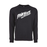Pinkbike White Rad Lightweight Crew Sweatshirt - Black