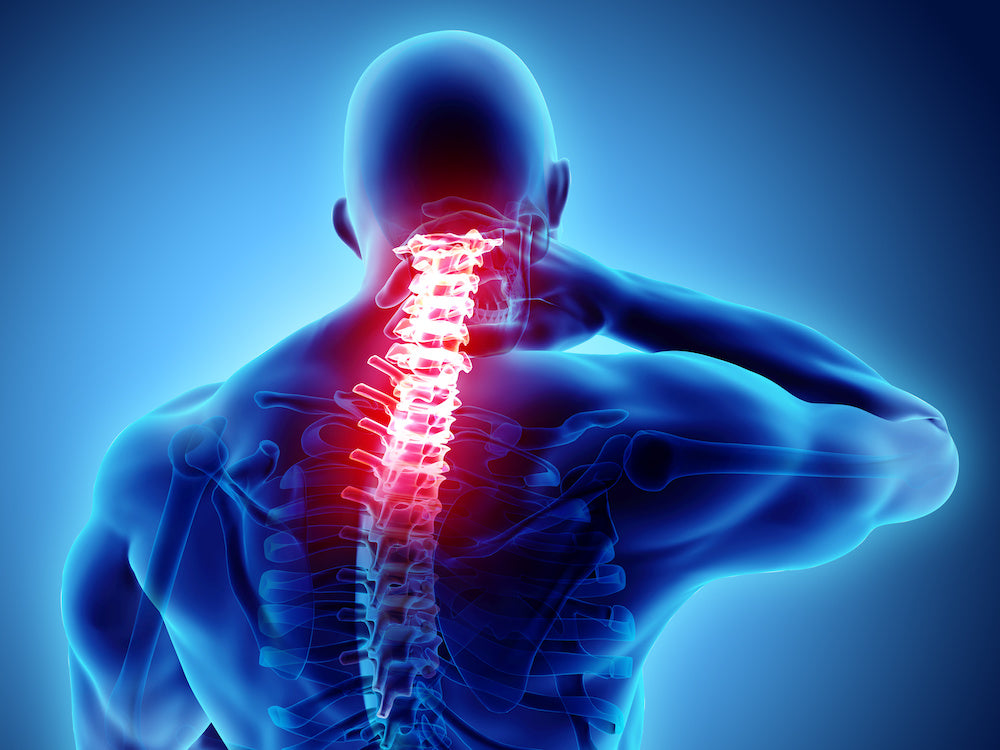 WFH Injuries - Neck Pain Shown with Graphic
