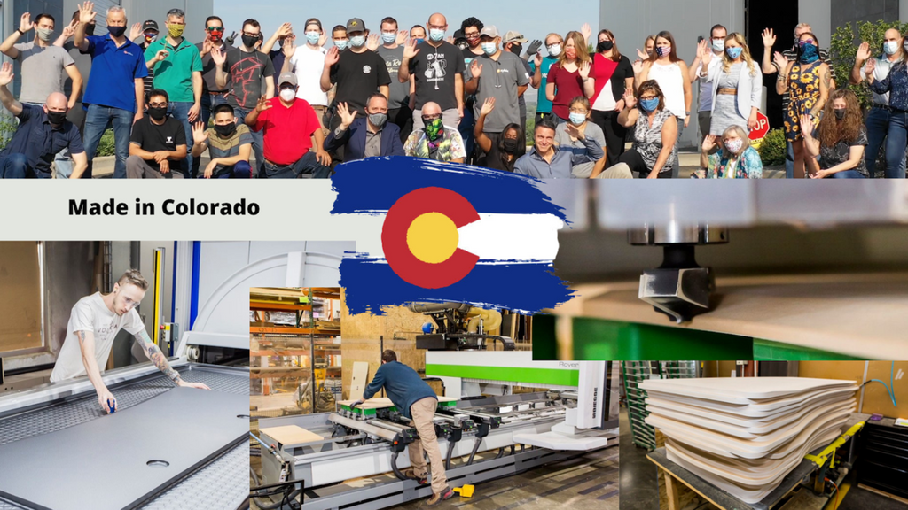 Picture of Xybix and MojoDesk Team and Production at Denver Factory