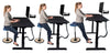 Varier Move Ergonomic Stool Chair shwon sitting, angled and leaned back