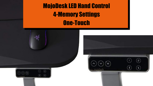MojoDesk LED Hand Control with 4 memory settings and one-touch operated for sit to stand desks