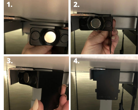 Magnetic piece alignment and attachment to frame