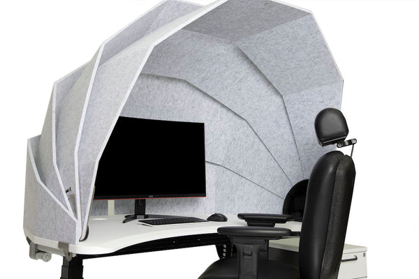 Privacy acoustic pod with monitor