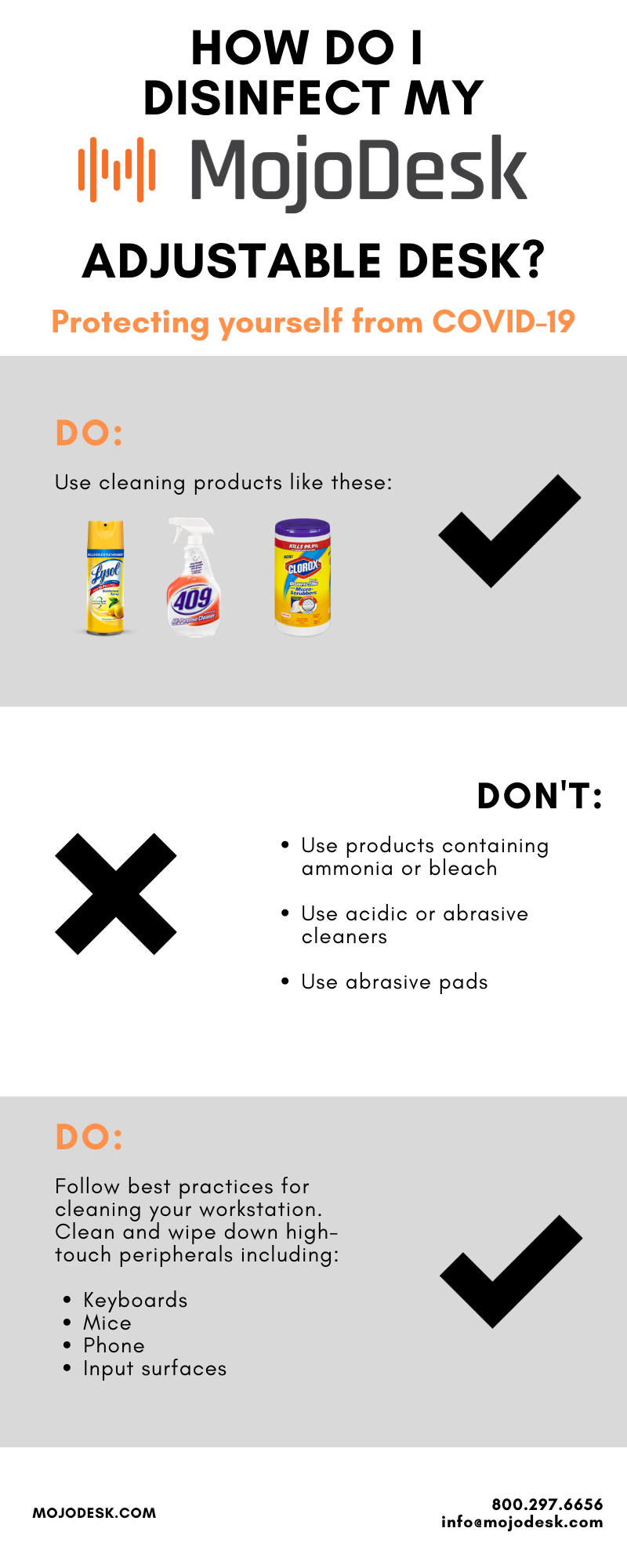 Cleaning Disinfecting MojoDesk Guide COVID19