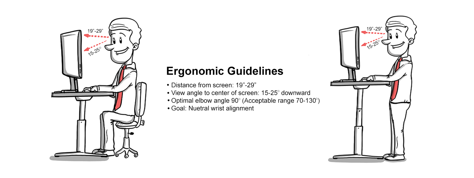 Ergonomic Guidelines Sit Stand Desk