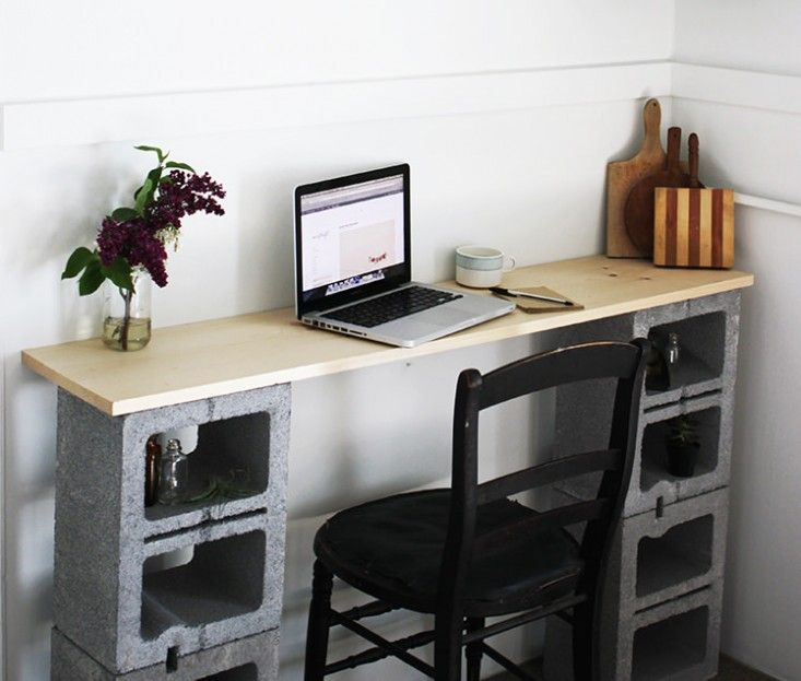 Cinder Block Desk - Desk Shortage 2020