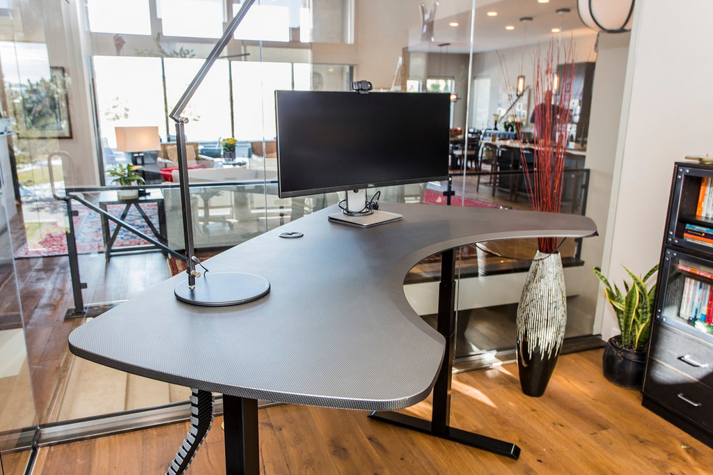 Sit to Stand Desk L Shape Option