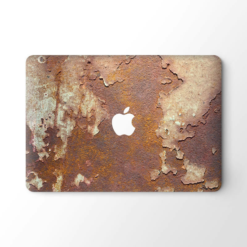 Rusted Metal-Top Skin Vinyl Sticker
