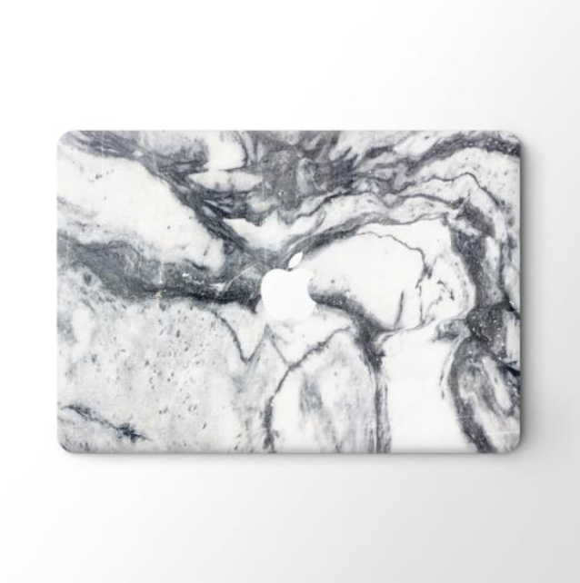 Grey n White Marble-Top Skin Vinyl Sticker