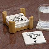 Personalized Coasters, Tumbled Stone - Midnight Margarita
