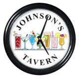 Personalized Clock - Cocktail Tavern