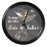 Personalized Clock - Martini with Olives
